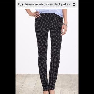 Banana Republic Sloan polka dot pants